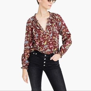 Point Sur Ruffle Neck Popover in Menagerie Print